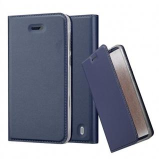 Cadorabo Hülle für Nokia 2 2017 in CLASSY DUNKEL BLAU - Handyhülle mit Magnetverschluss, Standfunktion und Kartenfach - Case Cover Schutzhülle Etui Tasche Book Klapp Style
