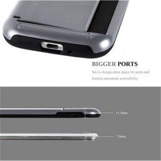 Cadorabo Hülle für Samsung Galaxy S4 - Hülle in ARMOR SILBER ? Handyhülle mit Kartenfach - Hard Case TPU Silikon Schutzhülle für Hybrid Cover im Outdoor Heavy Duty Design - Vorschau 5