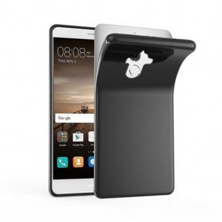 Cadorabo Hülle für Huawei MATE 9 in SCHWARZ - Handyhülle aus flexiblem TPU Silikon - Silikonhülle Schutzhülle Ultra Slim Soft Back Cover Case Bumper