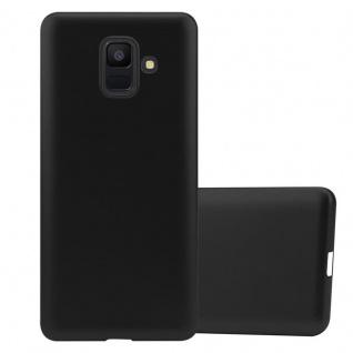 Cadorabo Hülle für Samsung Galaxy A6 2018 in METALLIC SCHWARZ - Handyhülle aus flexiblem TPU Silikon - Silikonhülle Schutzhülle Ultra Slim Soft Back Cover Case Bumper