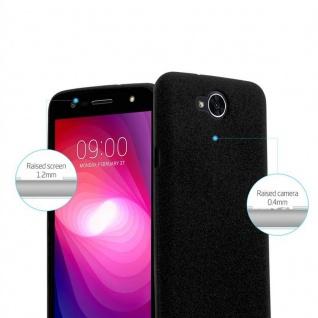 Cadorabo Hülle für LG X POWER 2 in FROST SCHWARZ - Handyhülle aus flexiblem TPU Silikon - Silikonhülle Schutzhülle Ultra Slim Soft Back Cover Case Bumper - Vorschau 5