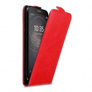 Cadorabo Hülle für Sony Xperia L2 in APFEL ROT - Handyhülle im Flip Design mit Magnetverschluss - Case Cover Schutzhülle Etui Tasche Book Klapp Style