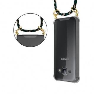 Cadorabo Handy Kette für Samsung Galaxy J1 2015 in CAMOUFLAGE ? Silikon Necklace Umhänge Hülle mit Gold Ringen, Kordel Band Schnur und abnehmbarem Etui ? Schutzhülle - Vorschau 4