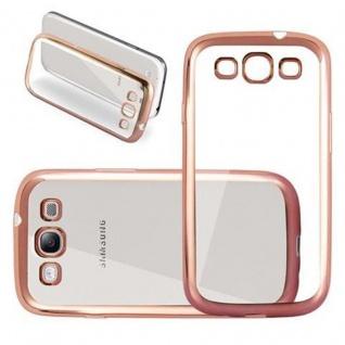 Cadorabo Hülle für Samsung Galaxy S3 / S3 NEO - Hülle in TRANSPARENT mit CHROM GOLD - Handyhülle aus TPU Silikon im Chrom Design - Silikonhülle Schutzhülle Ultra Slim Soft Back Cover Case Bumper