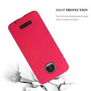 Cadorabo Hülle für Motorola MOTO Z in METALL ROT - Hardcase Handyhülle aus Plastik gegen Kratzer und Stöße - Schutzhülle Bumper Ultra Slim Back Case Hard Cover - Vorschau 3