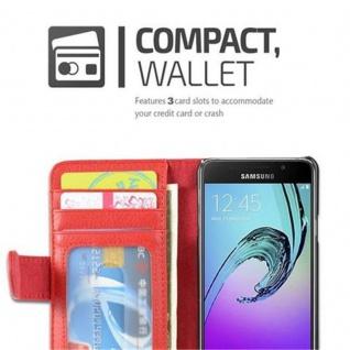 Cadorabo Hülle für Samsung Galaxy A3 2016 in INFERNO ROT ? Handyhülle mit Magnetverschluss und 3 Kartenfächern ? Case Cover Schutzhülle Etui Tasche Book Klapp Style - Vorschau 2