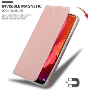 Cadorabo Hülle für Xiaomi Mi MIX 2 in CLASSY ROSÉ GOLD - Handyhülle mit Magnetverschluss, Standfunktion und Kartenfach - Case Cover Schutzhülle Etui Tasche Book Klapp Style - Vorschau 3