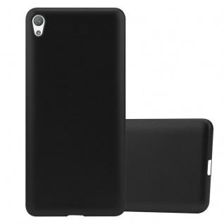 Cadorabo Hülle für Sony Xperia E5 in METALLIC SCHWARZ - Handyhülle aus flexiblem TPU Silikon - Silikonhülle Schutzhülle Ultra Slim Soft Back Cover Case Bumper