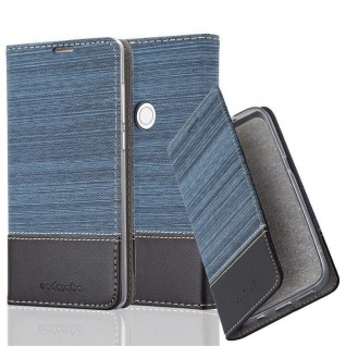 Cadorabo Hülle für Xiaomi MIX 2S in DUNKEL BLAU SCHWARZ - Handyhülle mit Magnetverschluss, Standfunktion und Kartenfach - Case Cover Schutzhülle Etui Tasche Book Klapp Style