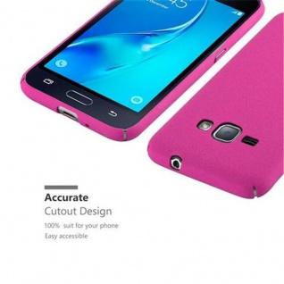 Cadorabo Hülle für Samsung Galaxy J1 2016 in FROSTY PINK - Hardcase Handyhülle aus Plastik gegen Kratzer und Stöße - Schutzhülle Bumper Ultra Slim Back Case Hard Cover - Vorschau 3