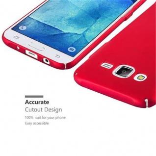 Cadorabo Hülle für Samsung Galaxy J5 2015 in METALL ROT - Hardcase Handyhülle aus Plastik gegen Kratzer und Stöße - Schutzhülle Bumper Ultra Slim Back Case Hard Cover - Vorschau 3