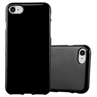 Cadorabo Hülle für Apple iPhone 7 / iPhone 7S / iPhone 8 in JELLY SCHWARZ ? Handyhülle aus flexiblem TPU Silikon ? Silikonhülle Schutzhülle Ultra Slim Soft Back Cover Case Bumper