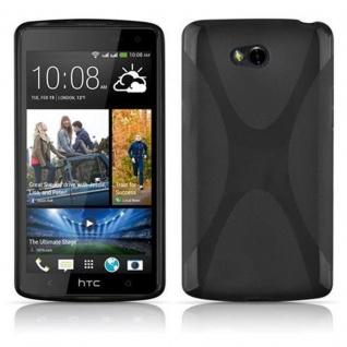 Cadorabo Hülle für HTC Desire 600 in OXID SCHWARZ ? Handyhülle aus flexiblem TPU Silikon ? Silikonhülle Schutzhülle Ultra Slim Soft Back Cover Case Bumper