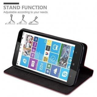 Cadorabo Hülle für Nokia Lumia 1320 in APFEL ROT - Handyhülle mit Magnetverschluss, Standfunktion und Kartenfach - Case Cover Schutzhülle Etui Tasche Book Klapp Style - Vorschau 5