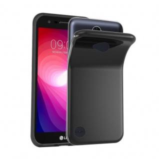 Cadorabo Hülle für LG X POWER 2 in SCHWARZ - Handyhülle aus flexiblem TPU Silikon - Silikonhülle Schutzhülle Ultra Slim Soft Back Cover Case Bumper
