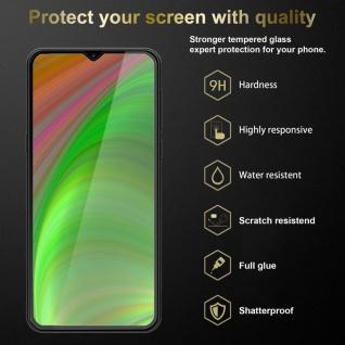 Cadorabo 3x Vollbild Panzer Folie für Samsung Galaxy M30s Schutzfolie in TRANSPARENT mit SCHWARZ 3er Pack Gehärtetes (Tempered) Display-Schutzglas in 9H Härte mit 3D Touch - Vorschau 3