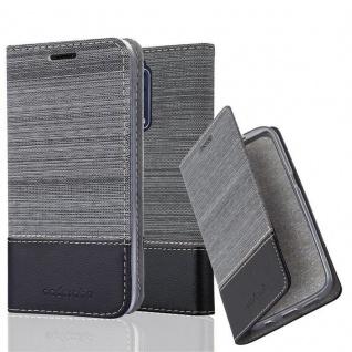 Cadorabo Hülle für Nokia 8 2017 in GRAU SCHWARZ - Handyhülle mit Magnetverschluss, Standfunktion und Kartenfach - Case Cover Schutzhülle Etui Tasche Book Klapp Style