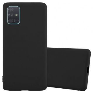 Cadorabo Hülle für Samsung Galaxy A71 5G in CANDY SCHWARZ Handyhülle aus flexiblem TPU Silikon Silikonhülle Schutzhülle Ultra Slim Soft Back Cover Case Bumper