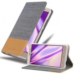 Cadorabo Hülle für Xiaomi RedMi Note 3 in HELL GRAU BRAUN - Handyhülle mit Magnetverschluss, Standfunktion und Kartenfach - Case Cover Schutzhülle Etui Tasche Book Klapp Style