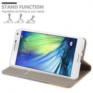 Cadorabo Hülle für Samsung Galaxy A7 2015 in HELL GRAU BRAUN - Handyhülle mit Magnetverschluss, Standfunktion und Kartenfach - Case Cover Schutzhülle Etui Tasche Book Klapp Style - Vorschau 4