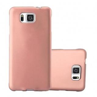Cadorabo Hülle für Samsung Galaxy ALPHA in METALLIC ROSE GOLD - Handyhülle aus flexiblem TPU Silikon - Silikonhülle Schutzhülle Ultra Slim Soft Back Cover Case Bumper