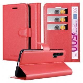 Cadorabo Hülle für Honor 20 PRO in KARMIN ROT Handyhülle mit Magnetverschluss, Standfunktion und Kartenfach Case Cover Schutzhülle Etui Tasche Book Klapp Style