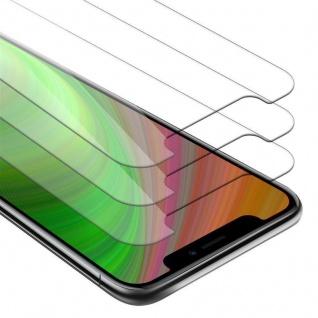 Cadorabo 3x Panzer Folie für Apple iPhone XS MAX - Schutzfolie in KRISTALL KLAR - 3er Pack Gehärtetes (Tempered) Display-Schutzglas in 9H Härte mit 3D Touch Kompatibilität