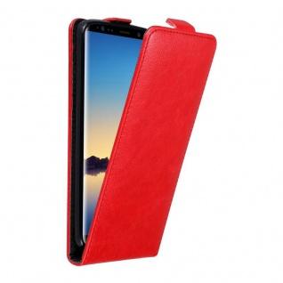 Cadorabo Hülle für Samsung Galaxy NOTE 8 in APFEL ROT - Handyhülle im Flip Design mit unsichtbarem Magnetverschluss - Case Cover Schutzhülle Etui Tasche Book Klapp Style