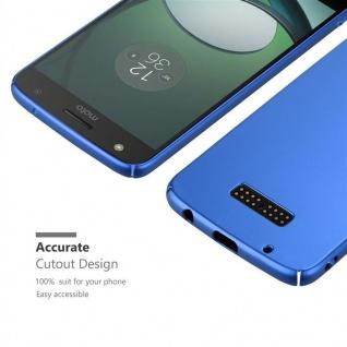 Cadorabo Hülle für Motorola MOTO Z PLAY in METALL BLAU ? Hardcase Handyhülle aus Plastik gegen Kratzer und Stöße ? Schutzhülle Bumper Ultra Slim Back Case Hard Cover - Vorschau 5