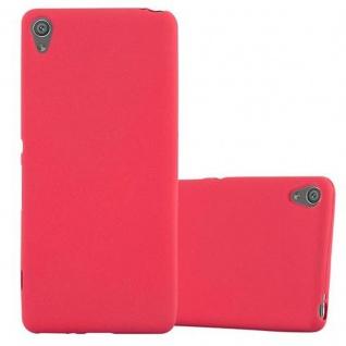 Cadorabo Hülle für Sony Xperia XA in FROST ROT - Handyhülle aus flexiblem TPU Silikon - Silikonhülle Schutzhülle Ultra Slim Soft Back Cover Case Bumper