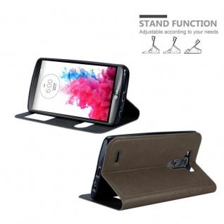 Cadorabo Hülle für LG G3 in STEIN BRAUN ? Handyhülle mit Magnetverschluss, Standfunktion und 2 Sichtfenstern ? Case Cover Schutzhülle Etui Tasche Book Klapp Style - Vorschau 4