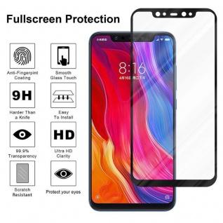 Cadorabo Vollbild Panzer Folie für Xiaomi 8 - Schutzfolie in TRANSPARENT mit SCHWARZ - Gehärtetes (Tempered) Display-Schutzglas in 9H Härte mit 3D Touch Kompatibilität - Vorschau 4