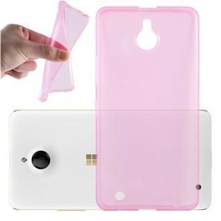 Cadorabo Hülle für Nokia Lumia 850 in TRANSPARENT PINK - Handyhülle aus flexiblem TPU Silikon - Silikonhülle Schutzhülle Ultra Slim Soft Back Cover Case Bumper