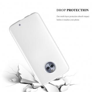 Cadorabo Hülle für Motorola MOTO X4 in METALL SILBER - Hardcase Handyhülle aus Plastik gegen Kratzer und Stöße - Schutzhülle Bumper Ultra Slim Back Case Hard Cover - Vorschau 3