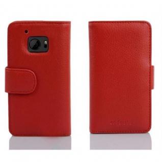 Cadorabo Hülle für HTC 10 (One M10) in INFERNO ROT ? Handyhülle mit Magnetverschluss und 3 Kartenfächern ? Case Cover Schutzhülle Etui Tasche Book Klapp Style - Vorschau 3