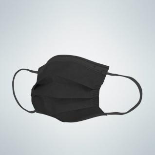 Einwegmasken - OP- 3 Lagen Typ1 ? schwarz/black 10er Pack TON