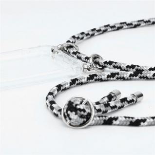Cadorabo Handy Kette für Honor 20e in SCHWARZ CAMOUFLAGE Silikon Necklace Umhänge Hülle mit Silber Ringen, Kordel Band Schnur und abnehmbarem Etui Schutzhülle - Vorschau 2