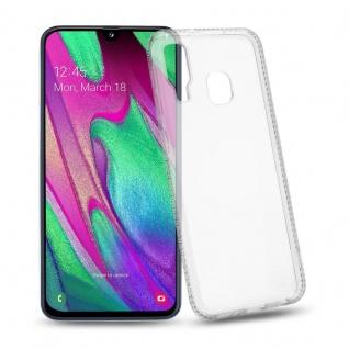 Cadorabo Hülle für Samsung Galaxy A40 - Hülle in TRANSPARENT WEIß ? Handyhülle aus TPU Silikon im Strass Design - Silikonhülle Schutzhülle Ultra Slim Soft Back Cover Case Bumper