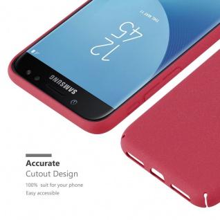 Cadorabo Hülle für Samsung Galaxy J5 2017 in FROSTY ROT - Hardcase Handyhülle aus Plastik gegen Kratzer und Stöße - Schutzhülle Bumper Ultra Slim Back Case Hard Cover - Vorschau 3