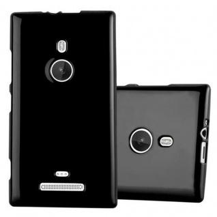 Cadorabo Hülle für Nokia Lumia 925 in JELLY SCHWARZ ? Handyhülle aus flexiblem TPU Silikon ? Silikonhülle Schutzhülle Ultra Slim Soft Back Cover Case Bumper