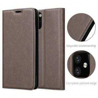 Cadorabo Hülle für Apple iPhone 11 (XI) in KAFFEE BRAUN - Handyhülle mit Magnetverschluss, Standfunktion und Kartenfach - Case Cover Schutzhülle Etui Tasche Book Klapp Style - Vorschau 5