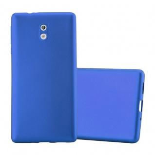 Cadorabo Hülle für Nokia 3 2017 in METALLIC BLAU - Handyhülle aus flexiblem TPU Silikon - Silikonhülle Schutzhülle Ultra Slim Soft Back Cover Case Bumper