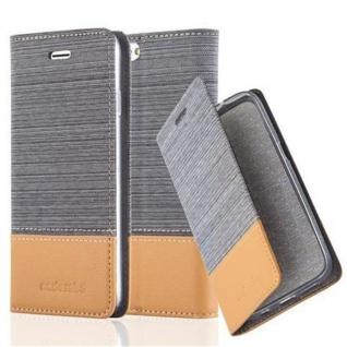 Cadorabo Hülle für Apple iPhone 6 PLUS / iPhone 6S PLUS in HELL GRAU BRAUN - Handyhülle mit Magnetverschluss, Standfunktion und Kartenfach - Case Cover Schutzhülle Etui Tasche Book Klapp Style