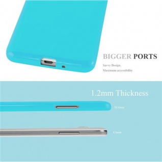 Cadorabo Hülle für Samsung Galaxy GRAND PRIME in JELLY HELL BLAU ? Handyhülle aus flexiblem TPU Silikon ? Silikonhülle Schutzhülle Ultra Slim Soft Back Cover Case Bumper - Vorschau 3
