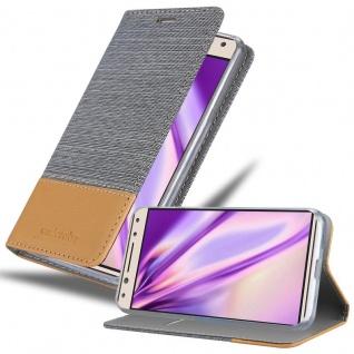 Cadorabo Hülle für Alcatel 5 in HELL GRAU BRAUN - Handyhülle mit Magnetverschluss, Standfunktion und Kartenfach - Case Cover Schutzhülle Etui Tasche Book Klapp Style