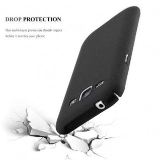 Cadorabo Hülle für Samsung Galaxy J1 2015 in FROSTY SCHWARZ - Hardcase Handyhülle aus Plastik gegen Kratzer und Stöße - Schutzhülle Bumper Ultra Slim Back Case Hard Cover - Vorschau 3