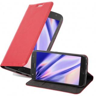 Cadorabo Hülle für Motorola MOTO X2 in APFEL ROT Handyhülle mit Magnetverschluss, Standfunktion und Kartenfach Case Cover Schutzhülle Etui Tasche Book Klapp Style