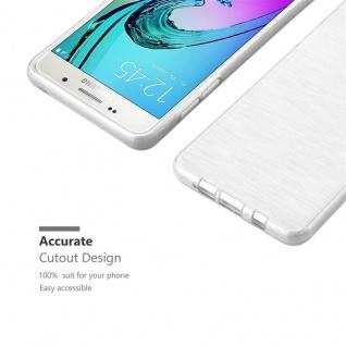 Cadorabo Hülle für Samsung Galaxy A5 2016 in SILBER - Handyhülle aus flexiblem TPU Silikon - Silikonhülle Schutzhülle Ultra Slim Soft Back Cover Case Bumper - Vorschau 5