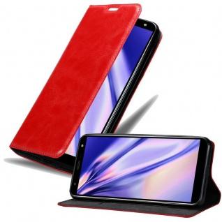 Cadorabo Hülle für LG K40 in APFEL ROT Handyhülle mit Magnetverschluss, Standfunktion und Kartenfach Case Cover Schutzhülle Etui Tasche Book Klapp Style