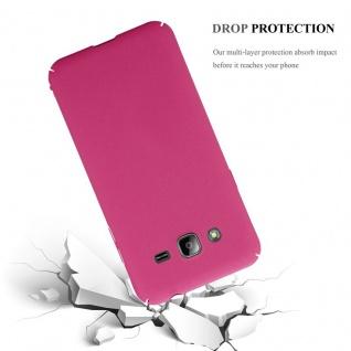 Cadorabo Hülle für Samsung Galaxy J3 / J3 DUOS 2016 in FROSTY PINK - Hardcase Handyhülle aus Plastik gegen Kratzer und Stöße - Schutzhülle Bumper Ultra Slim Back Case Hard Cover - Vorschau 4